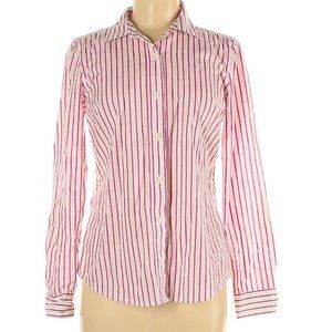 Nautica Pink Striped Long Sleeves, L
